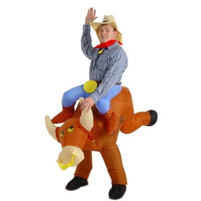 Costume gonflable rodéo taureau