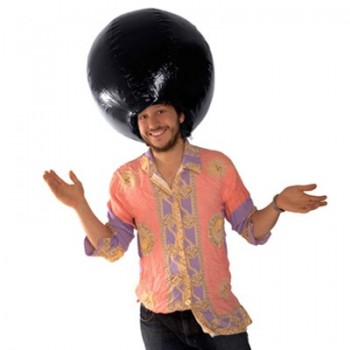 Perruque gonflable afro