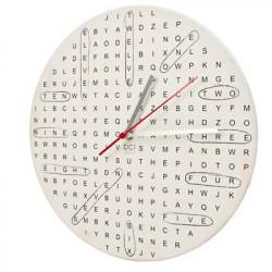 Horloge mots mêlés