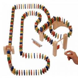 Course de domino bois