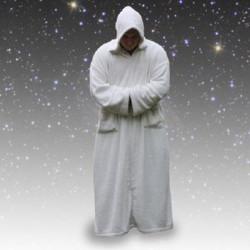 Space Rug blanc Jedi, la robe de chambre du futur