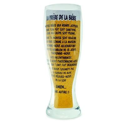 Verre à bière géant prière de la bière