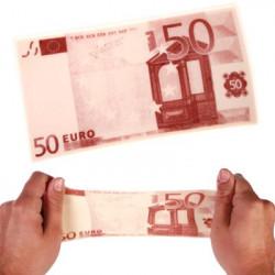 Billet 50 euro à étirer