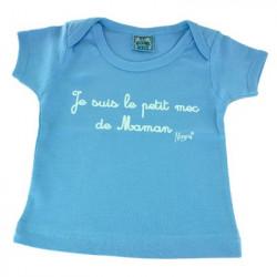 T-shirt naissance 0-3 mois je suis le petit mec...