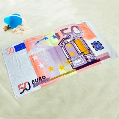 Drap de plage billet 50 euros