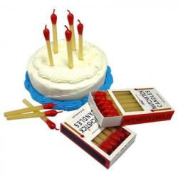 Bougies anniversaire Allumettes