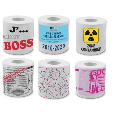 Ensemble papier toilette humour