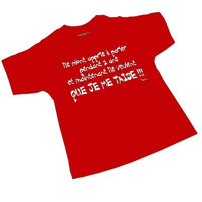 T-shirt 2 ans - Ils m'ont appris à parler pendant 2 ans...