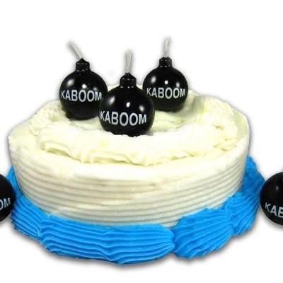 Bougies anniversaire Bombes Kaboom