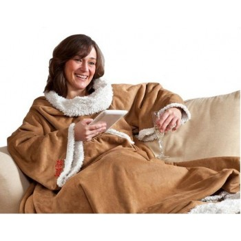 Snug Rug Sherpa, l'exquise couverture à manches !
