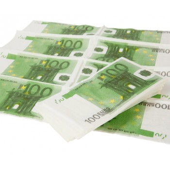 Serviettes de table PAPIER billets de 100 euros
