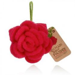 Rose éponge exfoliante recyclée