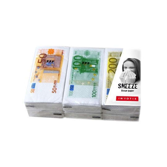 Ensemble de Mouchoirs Billet Euro