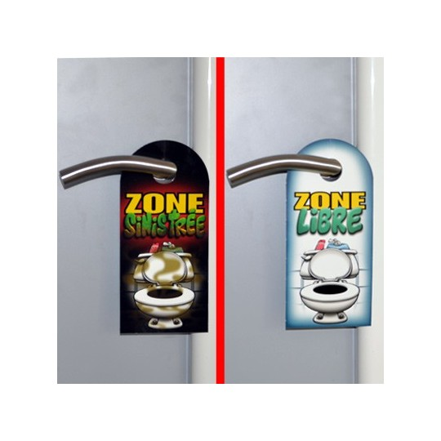 Pancarte toilettes Zone Sinistrée
