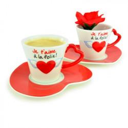 Coffret tasses expresso pour amoureux