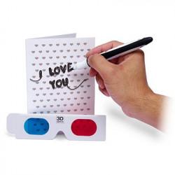 Carte 3D I love you