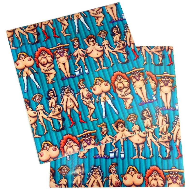 Papier cadeau femmes nues
