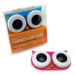 Boite pour lentilles de contact Hibou