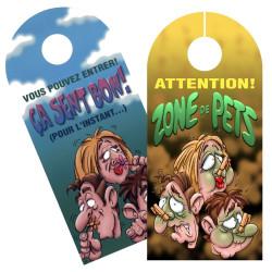 Pancarte Attention ! zone de pets