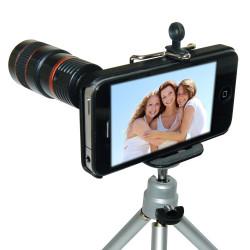 Zoom x8 avec trépied pour iPhone 4