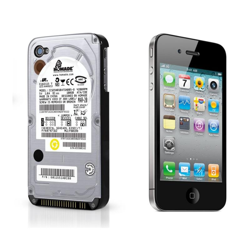 Coque Iphone 4 disque dur