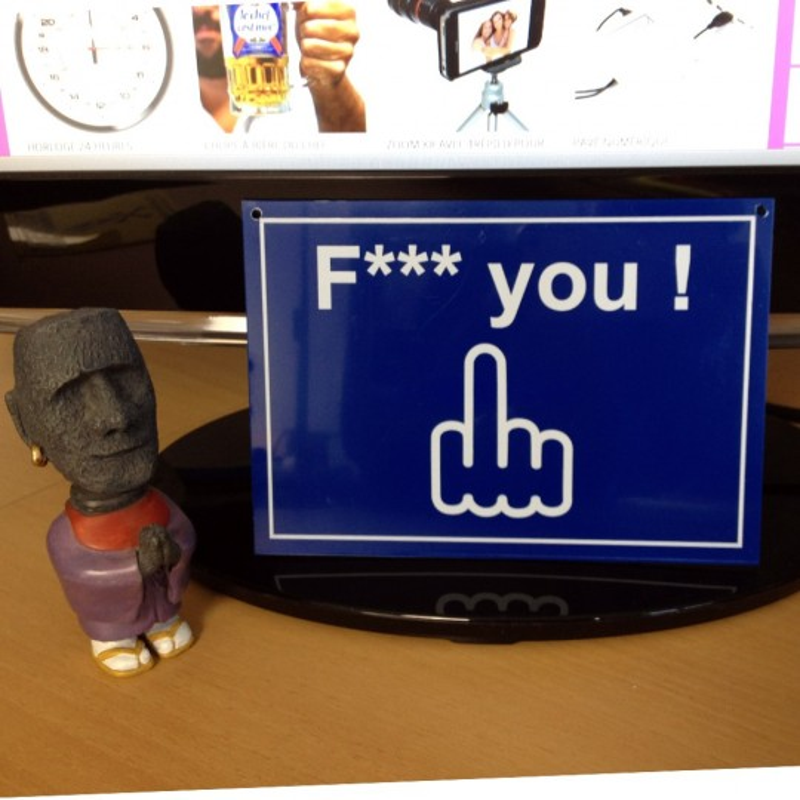Plaque de porte Fuck you