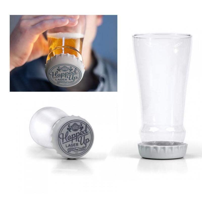 Capside down, verre à bière capsule inversée