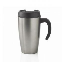 Mug tasse inox à couvercle étanche