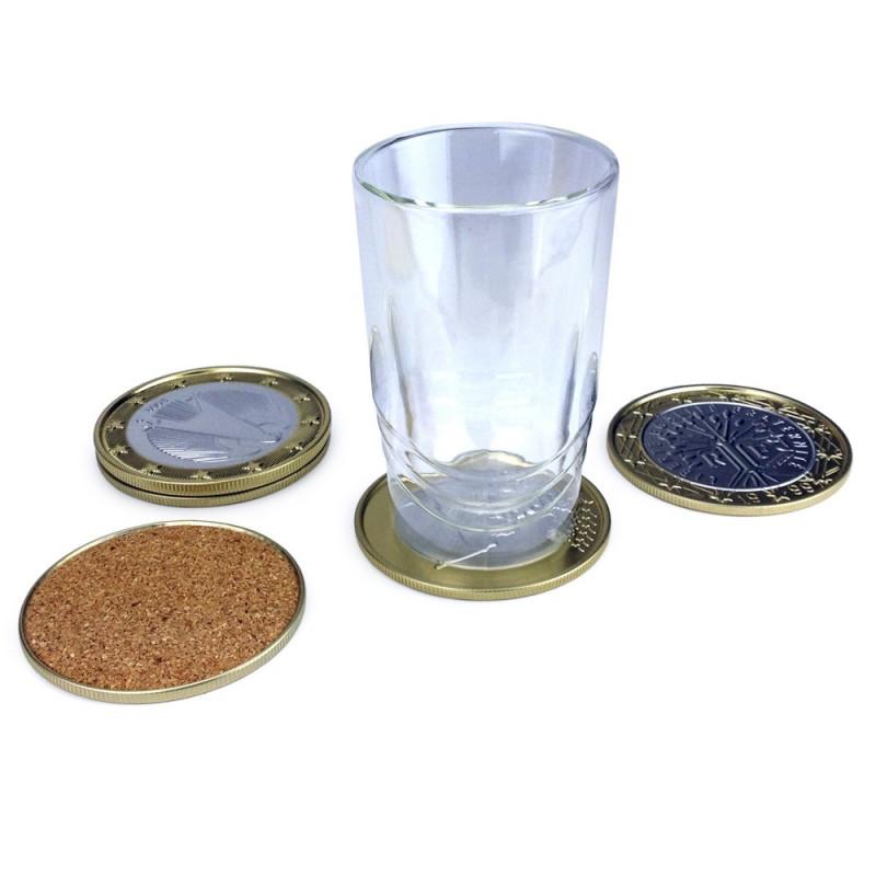 Sous-verres pièce d'un euro