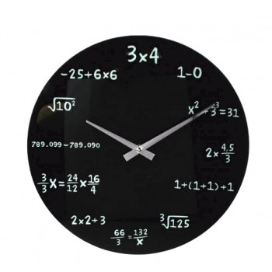 Horloge Mathématiques en verre