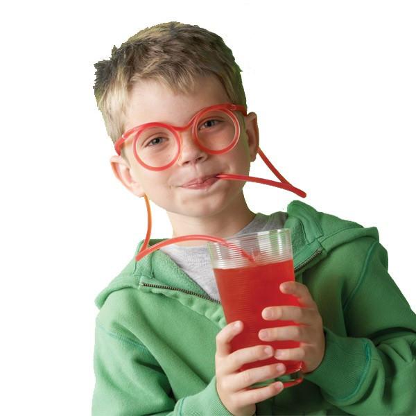 Lunettes paille pour boire