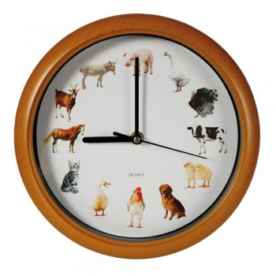 Horloge sonore animaux de la ferme