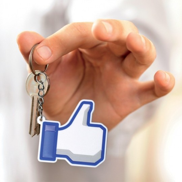 Porte-clés main j'aime facebook
