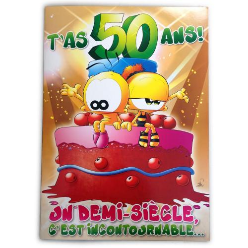 Fabuleux Carte GIGA Géante 50 ans anniversaire à 10,47 € HV03