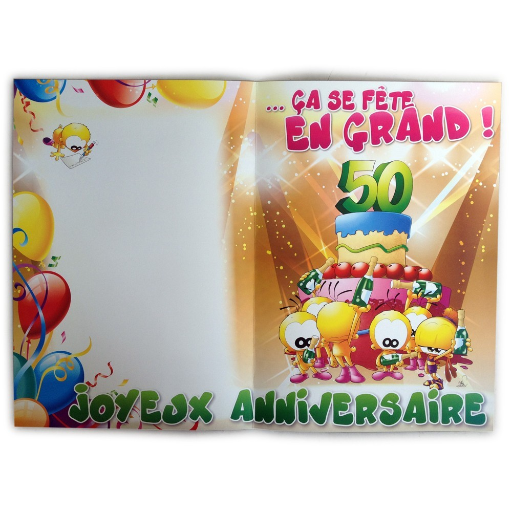 carte giga g ante 50 ans anniversaire 10 47. Black Bedroom Furniture Sets. Home Design Ideas