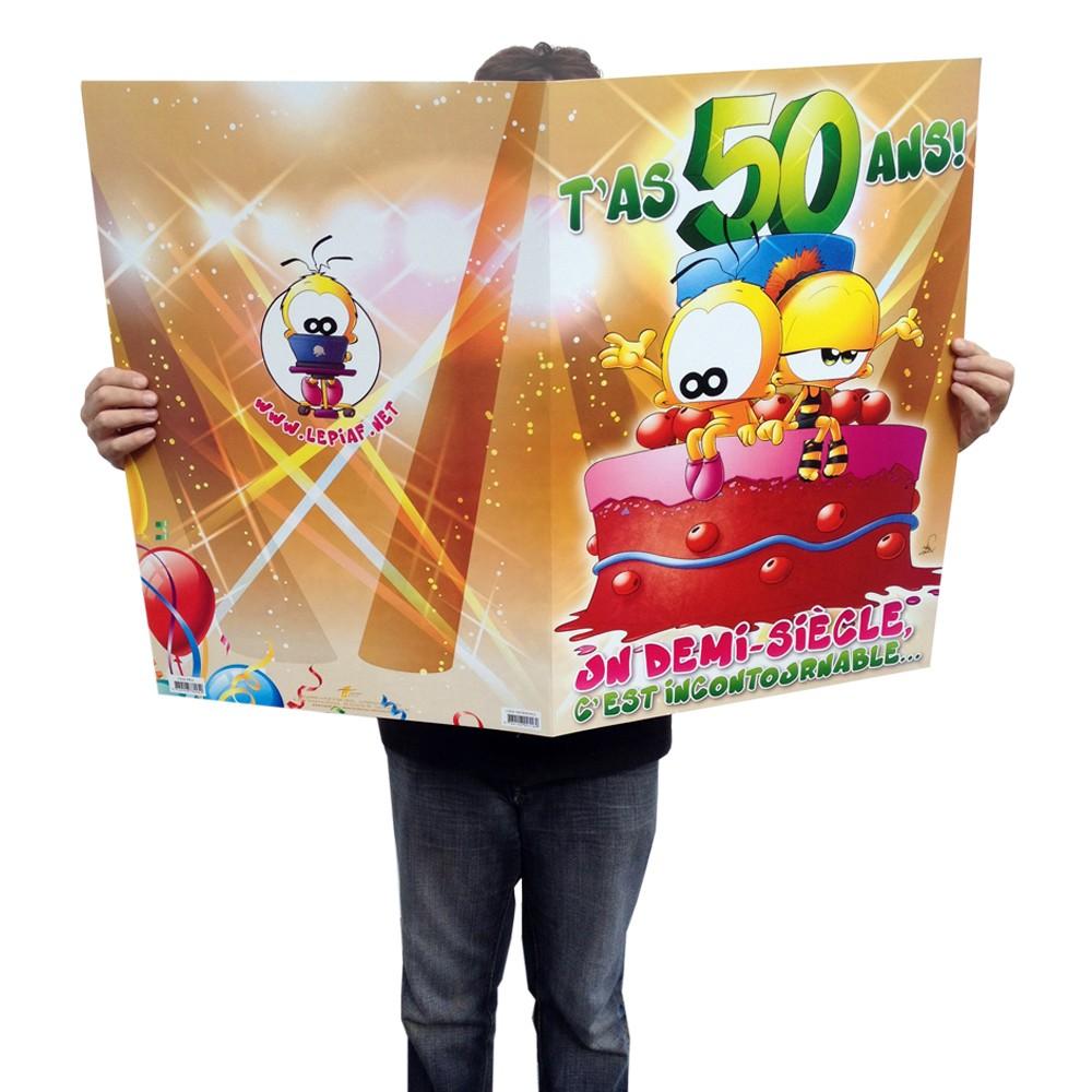 Good texte humoristique 60 ans 11 10 47 u20ac carte giga g ante 50 ans anniversaire homeezy - Carte anniversaire 60 ans humoristique ...