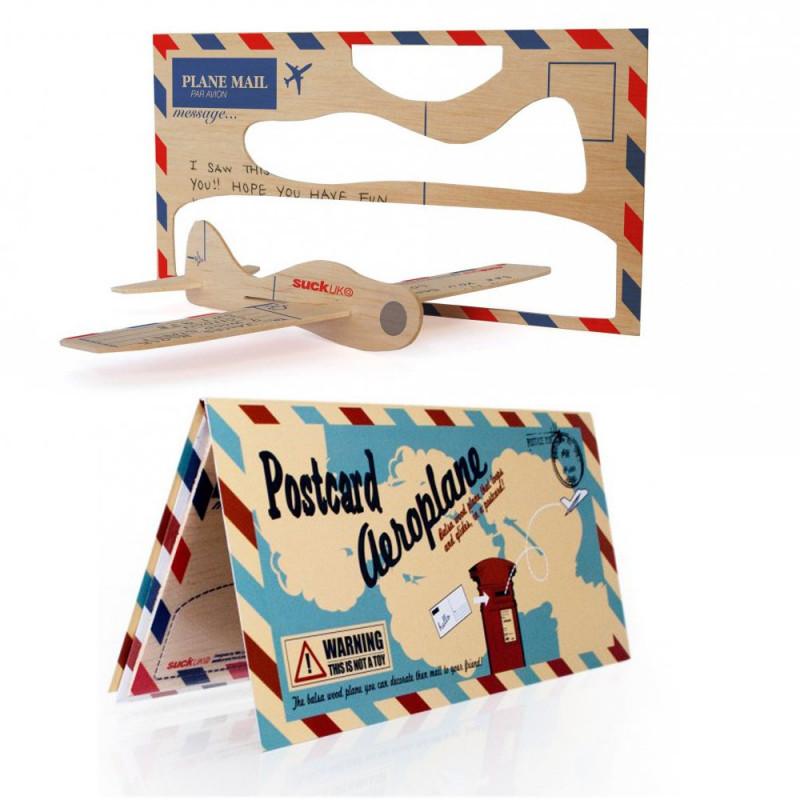 Carte postale avion à monter