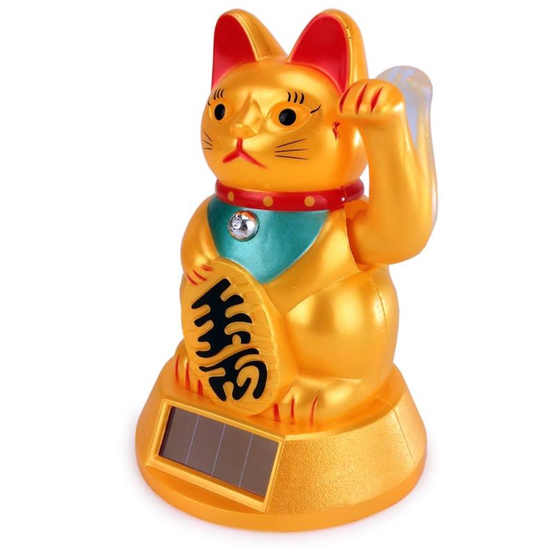 Maneki neko, chat porte-bonheur japonais solaire