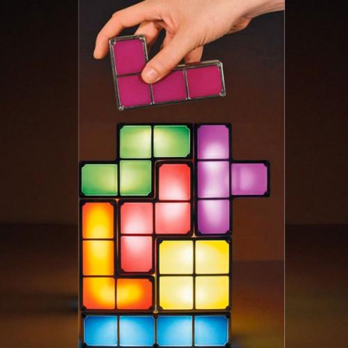 une lampe Tetris