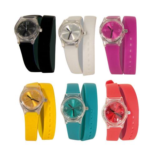 Montre double bracelet silicone