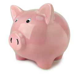 Tirelire cochon rose géante