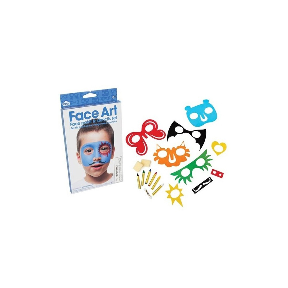 Kit maquillage facile pour gar on avec pochoirs 5 57 - Maquillage halloween facile garcon ...