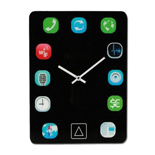 horloge en verre ipad