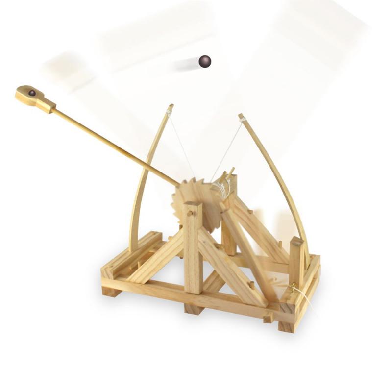 Catapulte de bureau Léonard de Vinci