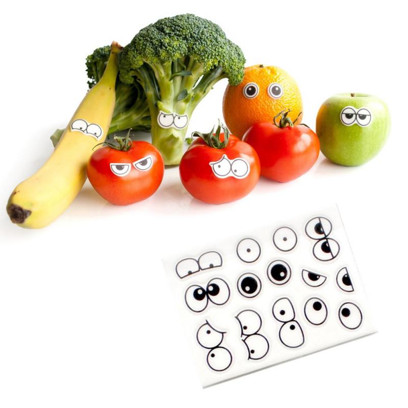 des yeux décoratifs pour vos fruits et légumes