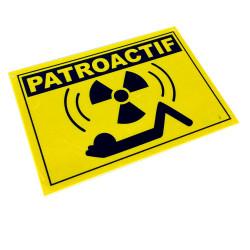 Plaque de porte Patroactif