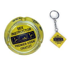 Coffret cendrier et porte-clés SEX INSTRUCTOR