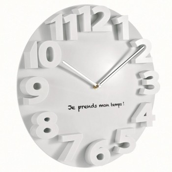 Horloge design relief