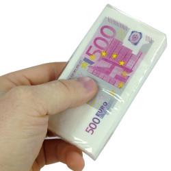Mouchoirs en papier billets de 500 euros