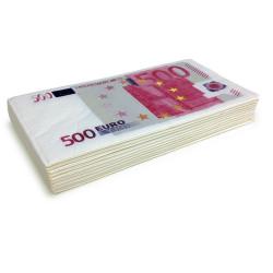 Serviettes en papier billets de 500 euros